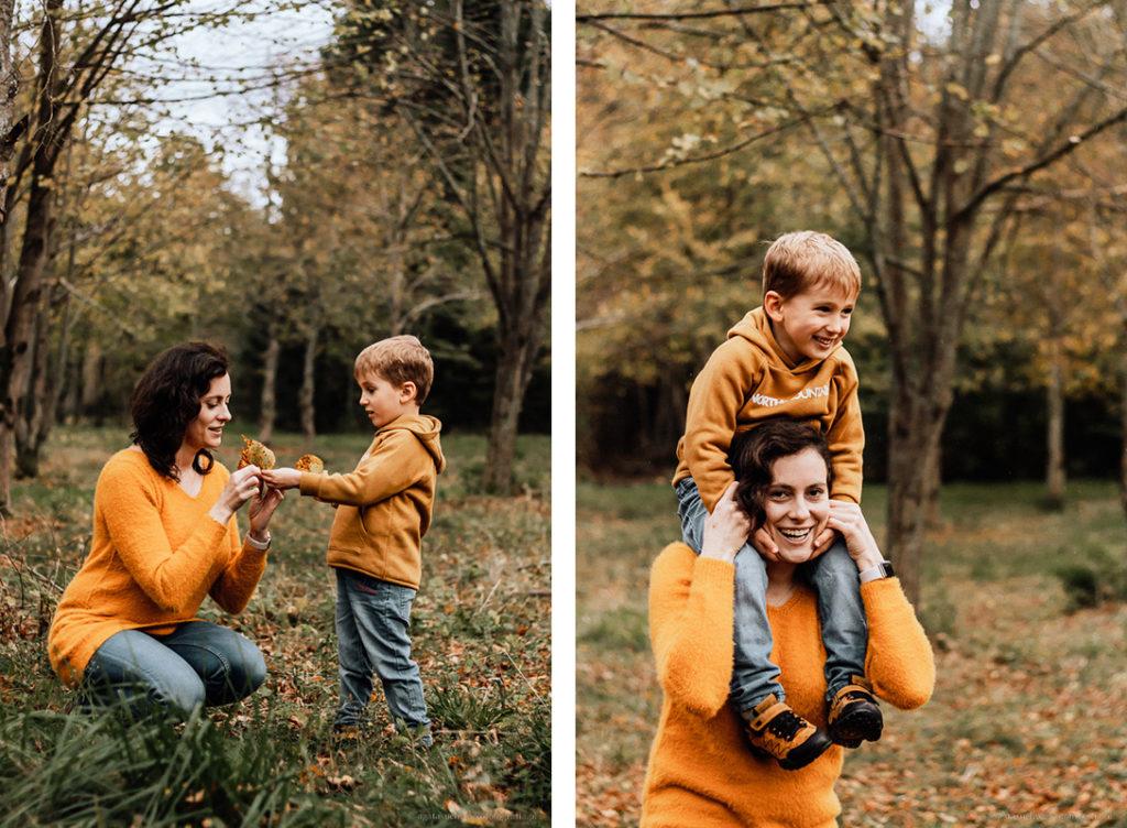 sesja lifestyle rodzinna w lesie